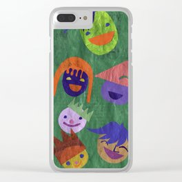 smiley people Clear iPhone Case
