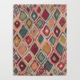 V38 EPIC ANTHROPOLOGIE MOROCCAN CARPET TEXTURE Poster