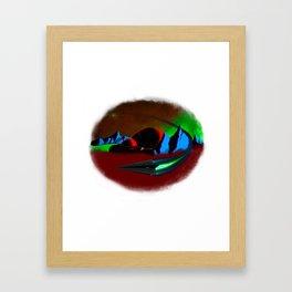 Plannet X settlement Framed Art Print