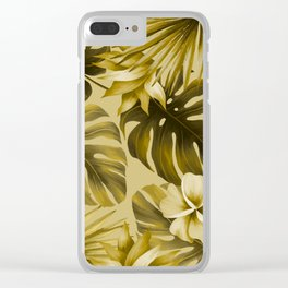 Tropical flowers 6 Clear iPhone Case