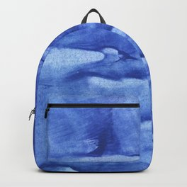 Corn flower blue abstract wash drawing painting Backpack