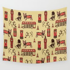 London Frenchies Wall Tapestry