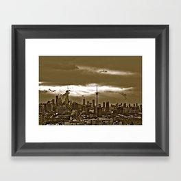 TORONTO CITY Framed Art Print