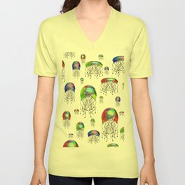 JELLYFISH BLOOM Unisex V-Neck