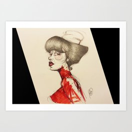 Nurse Paz Art Print