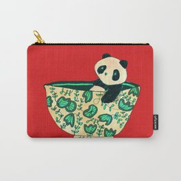 Dinnerware sets - panda in a bowl Carry-All Pouch