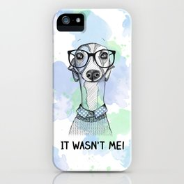 Greyhound with glasses iPhone Case