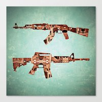 camouflage Canvas Prints featuring camouflage by Steve W Schwartz Art
