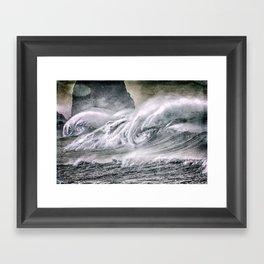 The Surf Framed Art Print