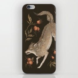 The Wolf and Rose Hips iPhone Skin