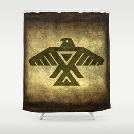 Symbol of the Anishinaabe, Ojibwe (Chippewa) on  parchment Shower Curtain