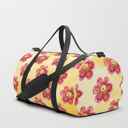 Red Flower Duffle Bag