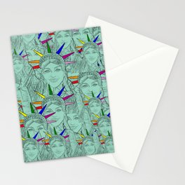 Gay Madonna as the Statue of Liberty! Cool Gay Artwork Stationery Cards