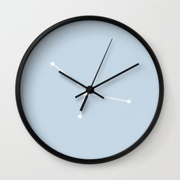 Cancer Zodiac Constellation - Pastel Blue Wall Clock