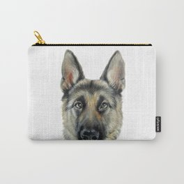 German Shepard Original painting by Miart Print Carry-All Pouch