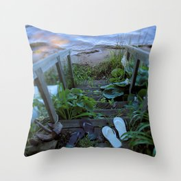 Stairway to Summer Throw Pillow