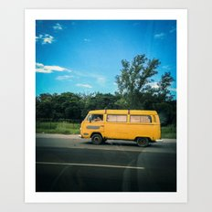 yellow_kombi#02 Art Print