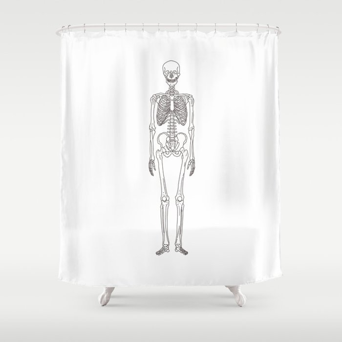 Human body skeleton Shower Curtain by factorie | Society6