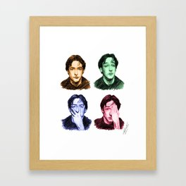 Many faces of John Cusack Framed Art Print