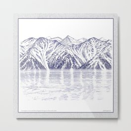 TURNAGAIN ARM AND THE CHUGACH RANGE ON THE COOK INLET ALASKA Metal Print