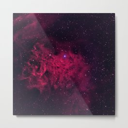 The Flaming Star Nebula Metal Print