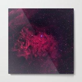The Flaming Star Nebula Metal Print