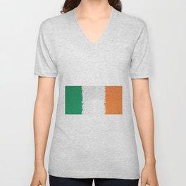 Extruded flag of Ireland Unisex V-Neck