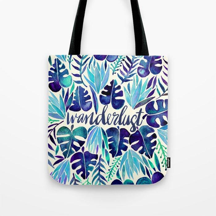 Tropical Wanderlust – Blue Tote Bag