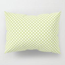 Daiquiri Green and White Polka Dots Pillow Sham