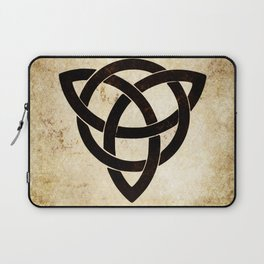 Celtic knot on old paper Laptop Sleeve