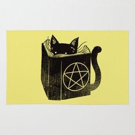 Witchcraft Cat Rug