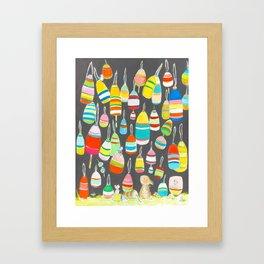 Bunny and buoys Framed Art Print