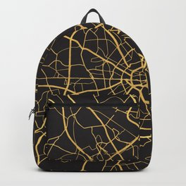 COLOGNE GERMANY GOLD ON BLACK CITY MAP Backpack