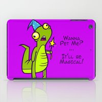 wizard iPad Cases featuring Wizard Lizard by Artistic Dyslexia