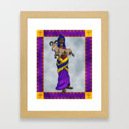 The Priestess and the Sheep Framed Art Print