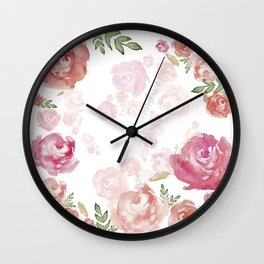 iPhone 7 Case Floral Wall Clock