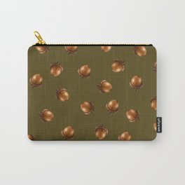 Acorn Pattern-Olive Carry-All Pouch