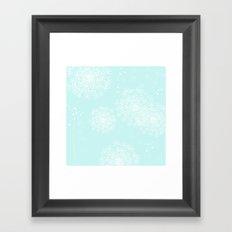 DANDY SNOWFLAKE AQUA Framed Art Print