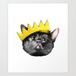 Black Cats Rule! Art Print