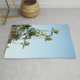For the love of palmtrees | Dominican republic travel photography print Rug