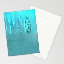 Teal Bottles Stationery Cards