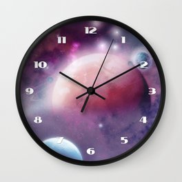 Pink Space Dream Wall Clock