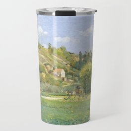 "Camille Pissarro ""A Cowherd at Valhermeil, Auvers-sur-Oise"" Travel Mug"