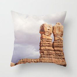 Twin Rocks Utah Throw Pillow