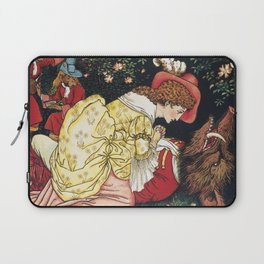 Beauty and the Beast ca. 1901 by Walter Crane. Laptop Sleeve