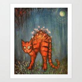 Midnight Adventures with Luna Art Print