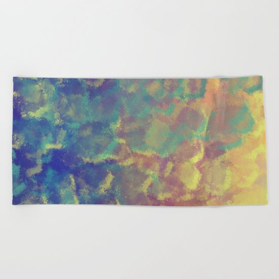Watercolor Splash #4 #art #society6 Beach Towel