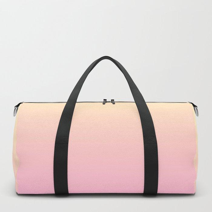 PEACH DREAMS - Minimal Plain Soft Mood Color Blend Prints Duffle Bag