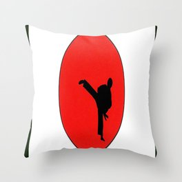 Art Of Karate Print Throw Pillow