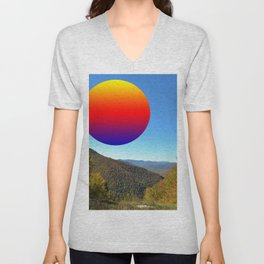 Rainbow moon Unisex V-Neck
